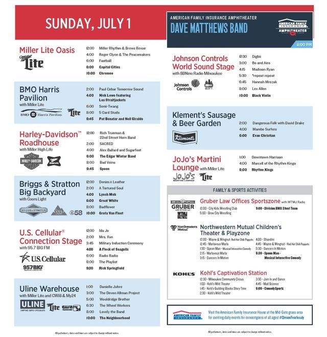 Sunday, July 1