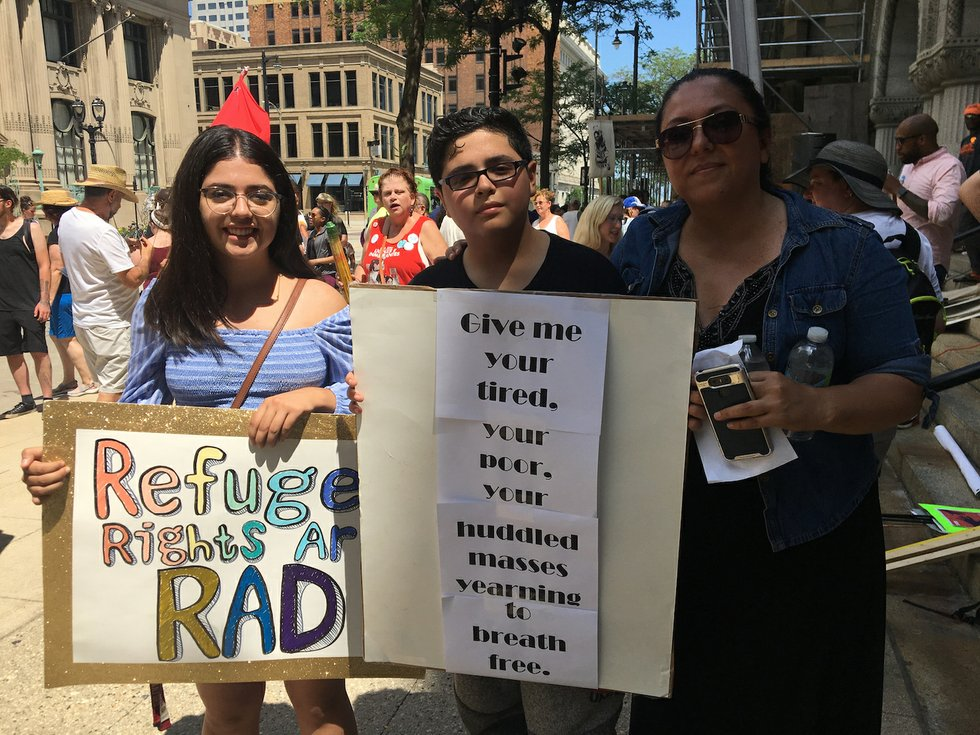 Rallies today throughout the Bay Area protesting separation of families