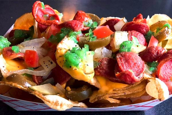Chicago Dog Nachos