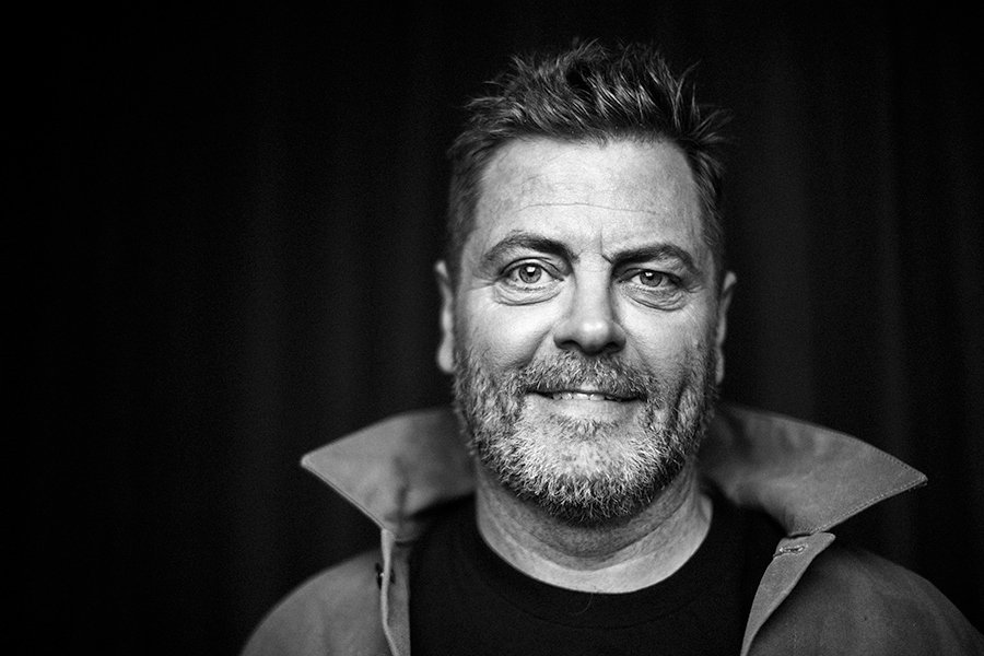 Nick Offerman Wants You to Laugh at and Improve Yourself