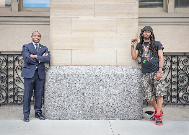 23 Cavalier Johnson & Frank Nitty at City Hall  photo by Tom Jenz.jpg