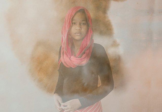 25 Islamic black woman portrait  by Tom Jenz.jpg