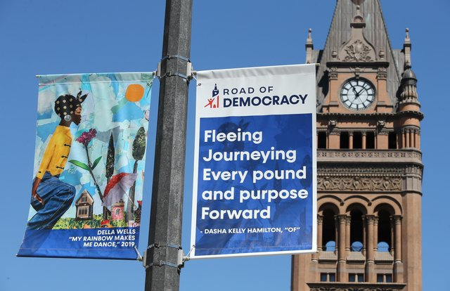 Mke Downtown Artist Banners on Water Street August 7 2020--024.JPG