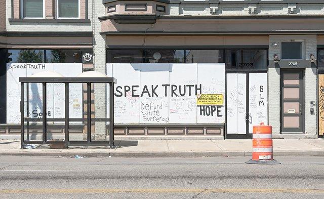 36 Speak Truth Storefront MLK Drive  by Tom Jenz.jpg