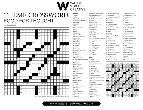 Crossword Nov. 19, 2020