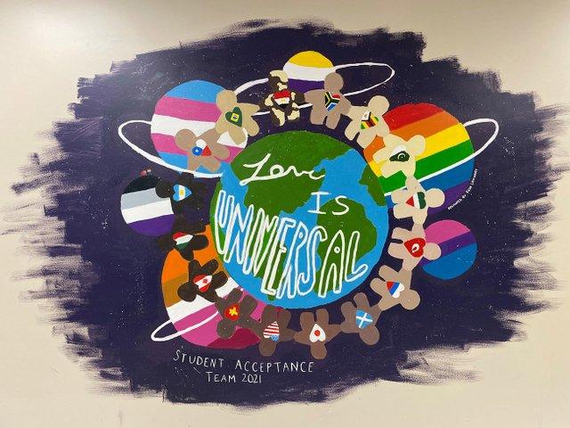 Webster Middle School - Love is Universal mural
