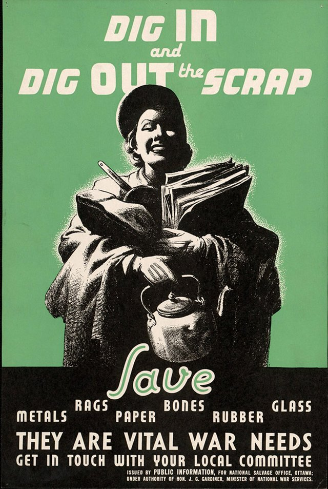 Dig In - WW2 poster