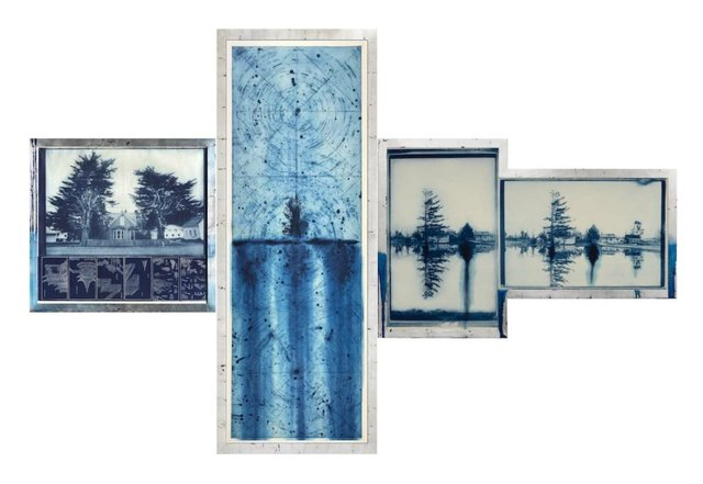 Judy Pfaff - End of the Rain triptych